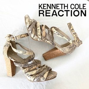Kenneth Cole Strong Daze Python Strappy Sandals